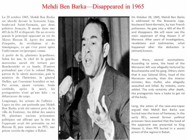 Mehdi Benbarka - Disappeared since 1965
