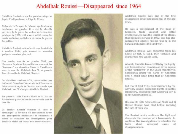 Abdelhak Rouissi - disappeared since 1964
