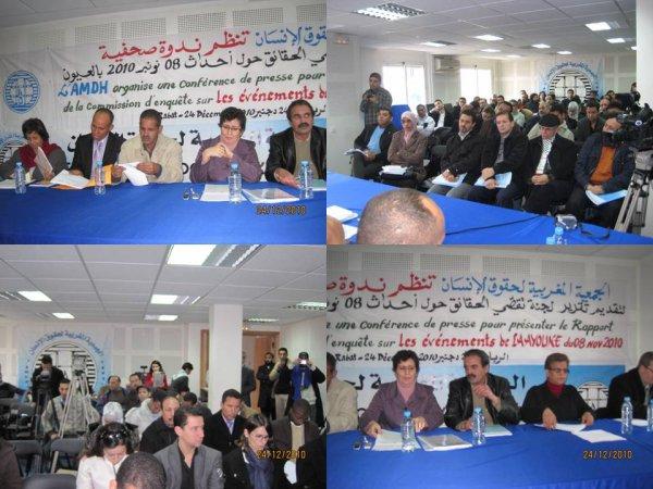 Conference de presse d'AMDH sur les evenements de Laayoune
