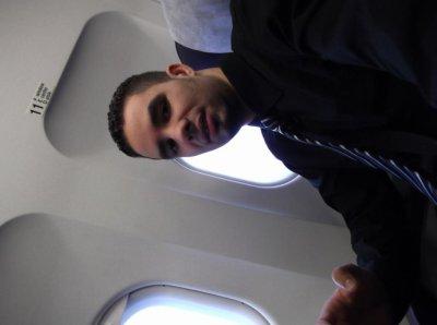 moi dans avion je venir en algérie passé les vacanse
