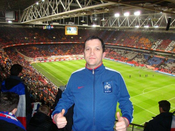2016- Lors du match PAYS-BAS -  FRANCE (Mon 42ème matchs équipe de france)