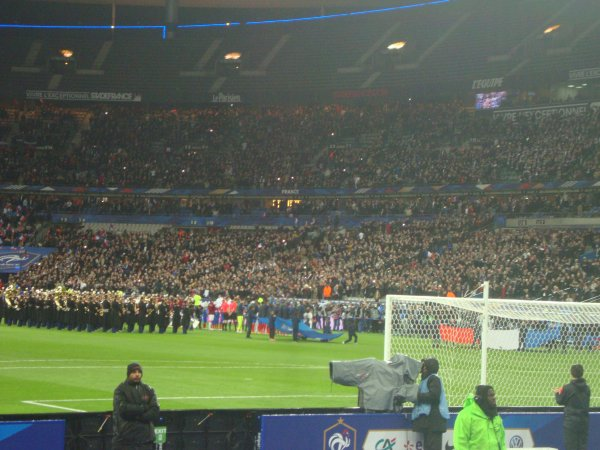 2016- Lors du match FRANCE-RUSSIE (Mon 43ème matchs équipe de france)