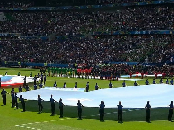 2016- Lors du match FRANCE-IRLANDE (Mon 45ème matchs équipe de france)