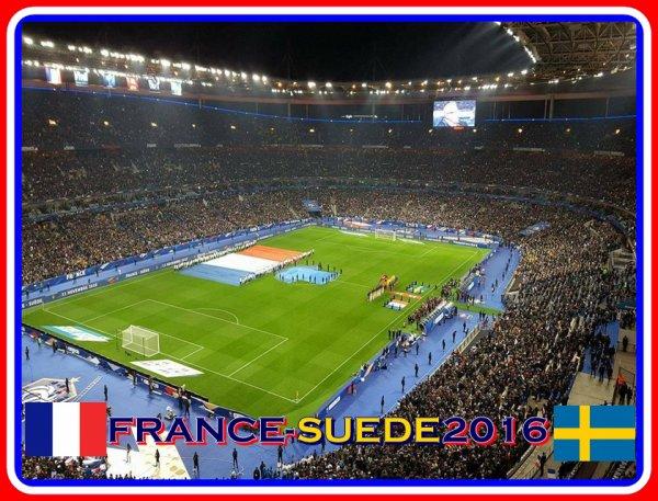 2016- Lors du match FRANCE-SUEDE (Mon 46ème match équipe de france)