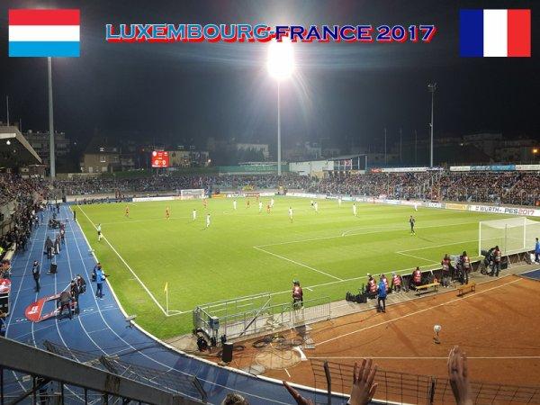 2017- Lors du match LUXEMBOURG - FRANCE (Mon 47ème match équipe de france)