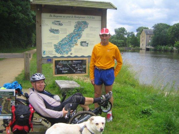 Lundi 18 Juin 2012: 32eme étape SACE-MAYENNE soit 18,75 km  soit depuis le départ 864km