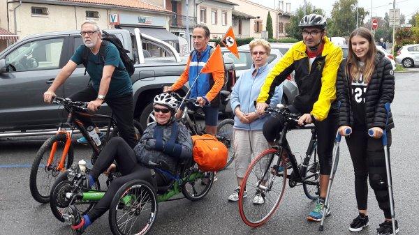 Samedi 30 Septembre 2017 14éme étape Tour Haute Garonne Saint-Alban=lac de Sesquiéres 13.450KM