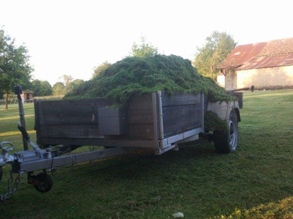 Ensilage d herbe lol juste 6000 m2 de tondu de quoi decourager 2 , 3   parisien mdr