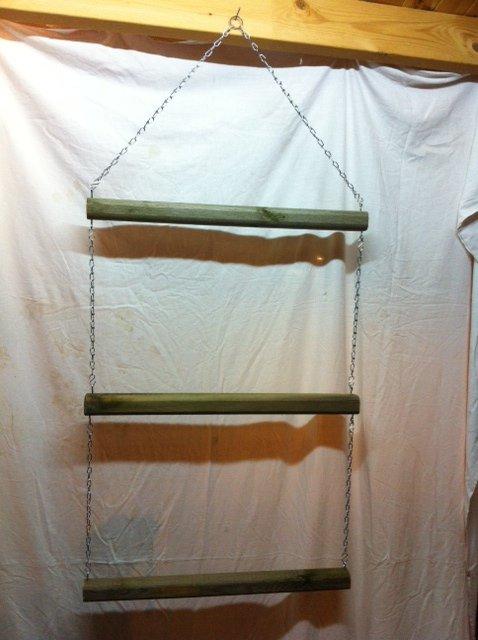 Echelle porte tapis à 3 hauteurs