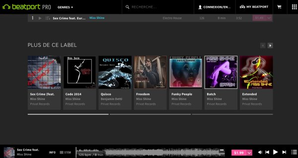 Miss Shine playlist Beatport