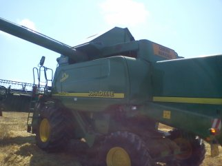 Moissonneuse New Holland CX860 et John-Deere 9640WTS