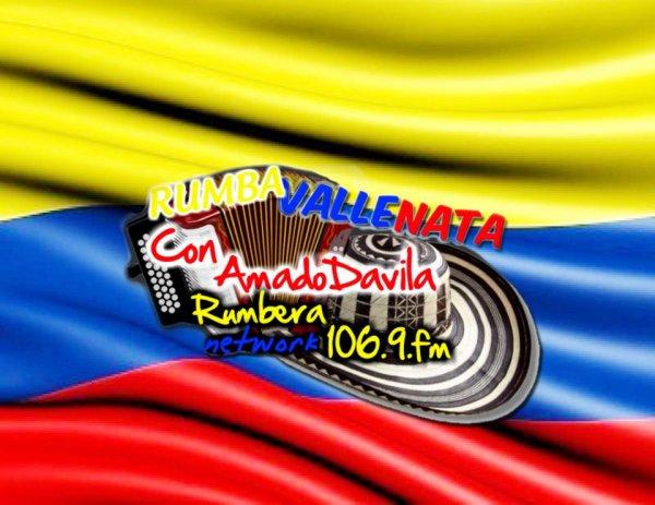 RUMBA VALLENATA CON AMADO DAVILA POR RUMBERA NETWORK 106.9 FM  DE 10AM A 12PM!!! DE LUNES A VIERNES PATROCINANTE OFICIAL DE LAS FERIAS TOVAR 2012