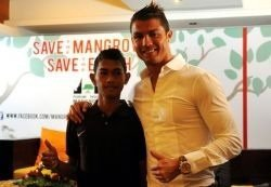 Cristiano lors de la conference de presse a Bali