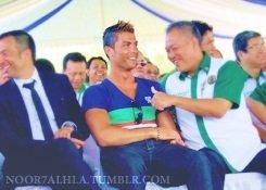 Cristiano lors du gala de charité a Bali