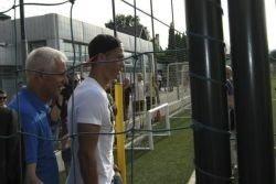Andrey Shevchenko et Cristiano à Tiflis pour la cérémonie d'ouverture, le FC Dinamo Tiflis Academy pour enfants, 07.07.2013