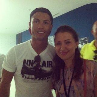 Cristiano avec une fan