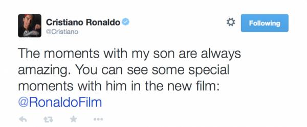 Cristiano via Twitter (21/06)