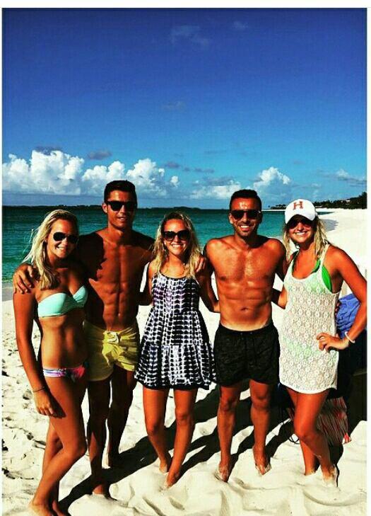 Cristiano, Ricky et des fans aux Bahamas (23/06)