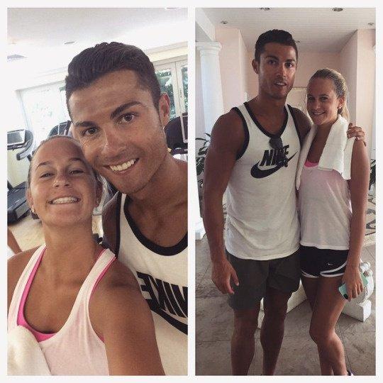 Cristiano et une fan (23/06)