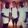 Cristiano et des fans lors de ses vacances