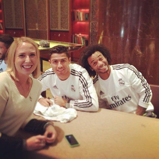 Cristiano, Marcelo et une fan