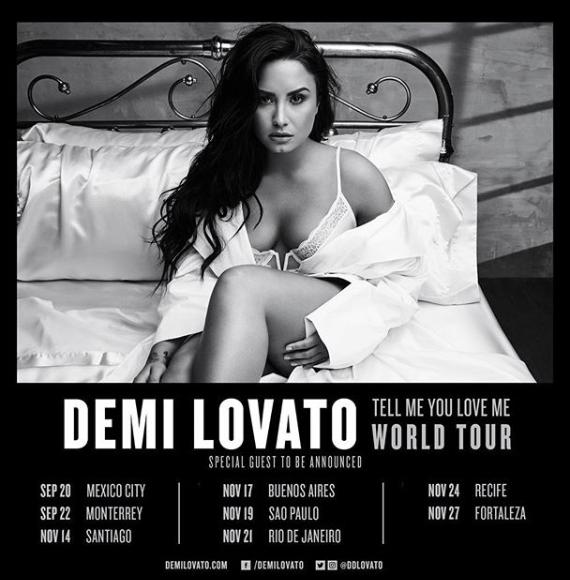 Demi reporte les dates en amerique du sud, voici donc l'affiche des nouvelles dates, ainsi que les dernières photos personnelles par Demi.