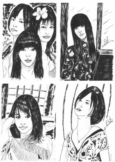 Prévisualisation des PORTRAITS de CHANTEUSES-JAPONAISES ( J-POP ) .