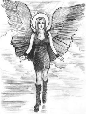 Dessin Ange Triste l'ange de peyton - blog de manga-noir-triste