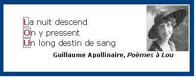 Poèmes à Lou précédé de Il y a d'Apollinaire