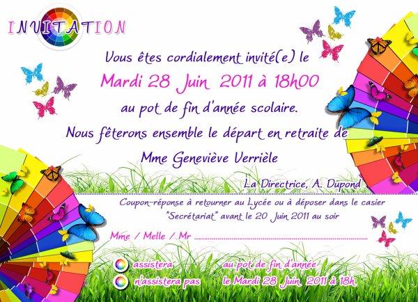 Populaire Invitation Pot de fin d'année Vauban - l'ebook de mes créations  SE95