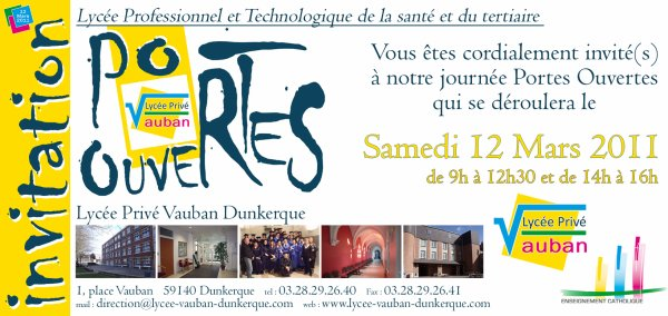 Invitations portes ouvertes lyc e vauban l 39 ebook de mes cr ations photoshop - Lycee guillaume tirel portes ouvertes ...