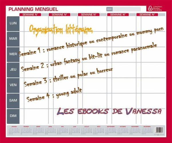 Vanessa organise ses lectures...!