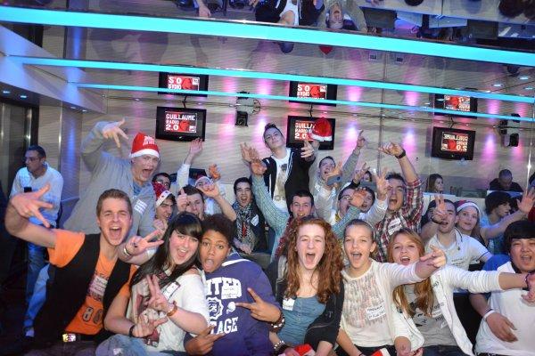 Le 25 décembre 2012 avec l'équipe de Guillaume 2.0 et un public de ouf :