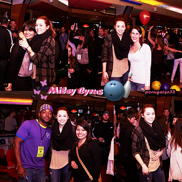 MILEY CYRUS : SES PHOTOS AU STARS AND STRIKES 2011 !