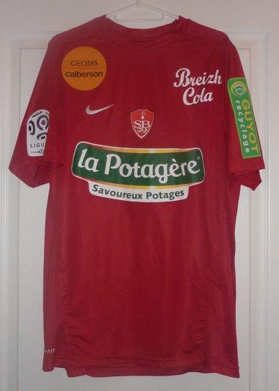 Steeve ELANA, saison 2010/2011. Maillot porté lors du match Saint Etienne-Brest !!