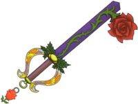 Keyblade chaîne Rose Éternelle
