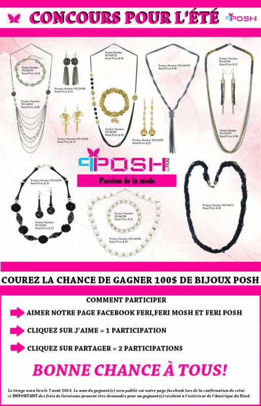 Concours 100$ de bijoux!!!