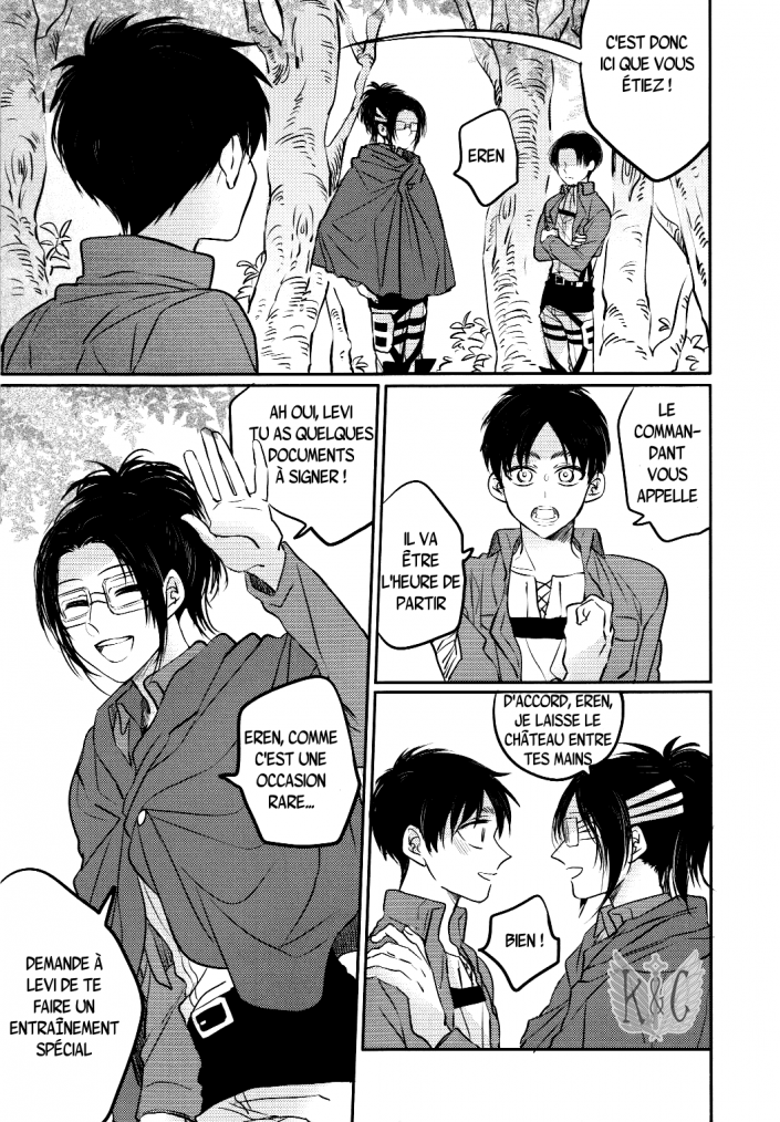 Shingeki no kyojin - love due to conscious neglect chapitre 1 partie 1
