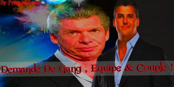 >>Demande De Gangs , Equipe & Couple<<