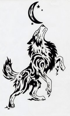Loup tribal just me 4 ever - Dessin de loup simple ...