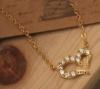 collier doré coeur