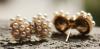 boucles d'oreilles dorées puces perles