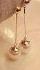 Boucles d'oreilles dorées perles