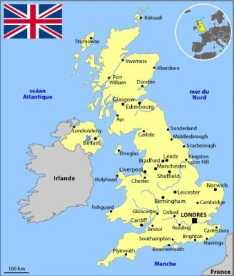 Carte Angleterre Grande Bretagne.Carte Du Royaume Uni Moi Ma Petite Vie