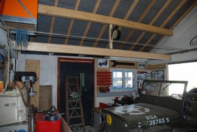 am nagement garage restauration d 39 un dodge wc51 de 1945. Black Bedroom Furniture Sets. Home Design Ideas