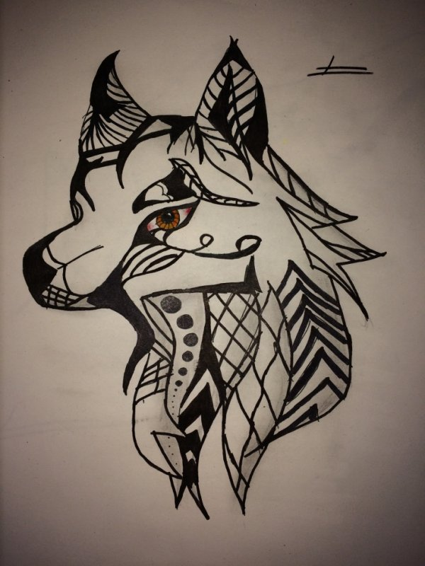 Loup tribal 1