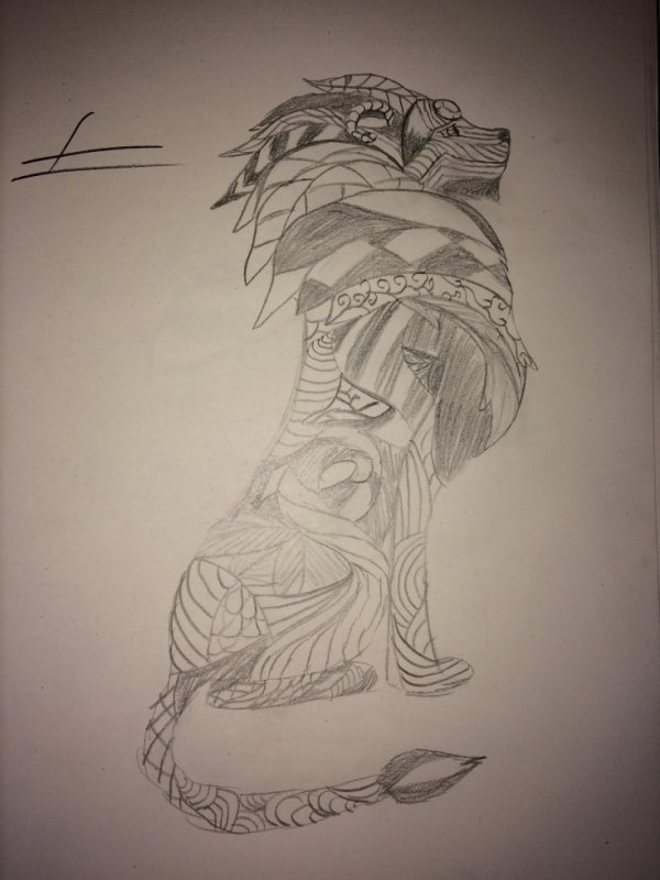Lion tribal 1
