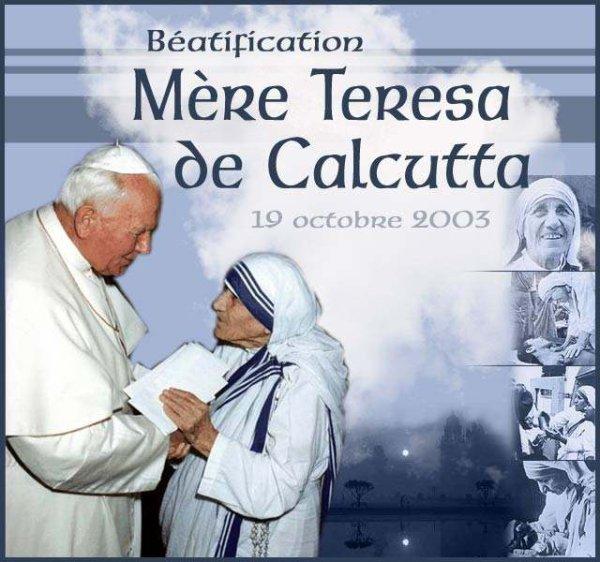 Mère Teresa a été béatifiée
