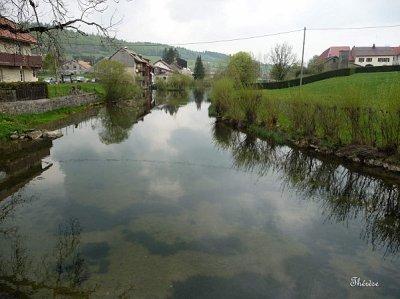 Mouthe, petit village du Doubs,