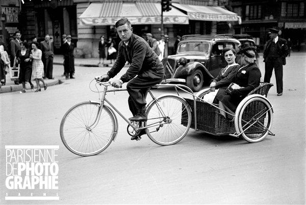 histoire   des vélos  taxis